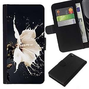 For HTC DESIRE 816 Case , Milk Abstract Fluid Timing Spring - la tarjeta de Crédito Slots PU Funda de cuero Monedero caso cubierta de piel