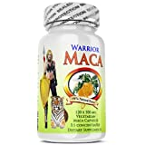 Maca Powder Capsules, 5:1 Concentrated, 500 Mg Maca Per Capsule, 120 Vegetarian Capsules, 100 % Natural (1 Bottle = 120 Peruvian Maca Powder Capsules) Maca Warrior
