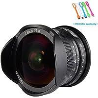7artisans 7.5mm F2.8 APS-C Wide Angle Fisheye Fixed Lens for Sony E-mount Cameras NEX-3/3N/C3/F3K/5K/5/5T/5R/5N/5C /5R,A7,A7II,A7R,A7RII,A7S, A7SII,A5000, A5100, A6000, A6100,A6300, A6500 ,A9,Black