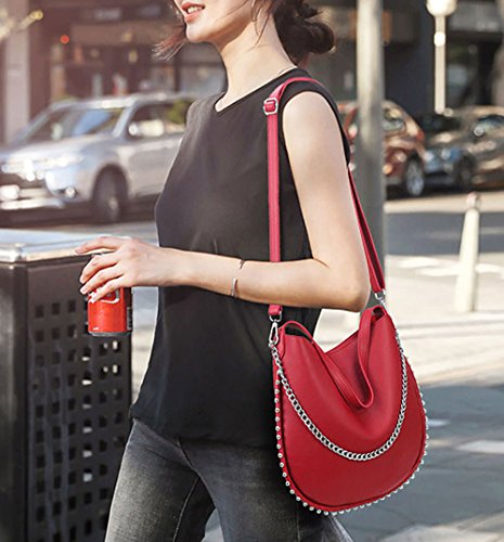 September Shoulder 3pcs And Shoppers Bags Burgundy Handbags Women Fekete In Bowling Shoulder Handbags HTqqyPZ7B
