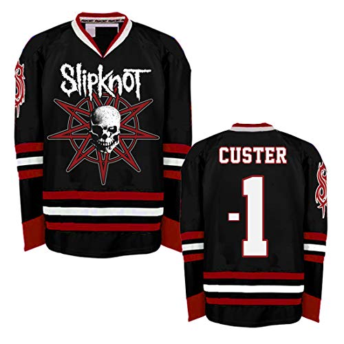 Slipknot Skull Hockey Jersey Black