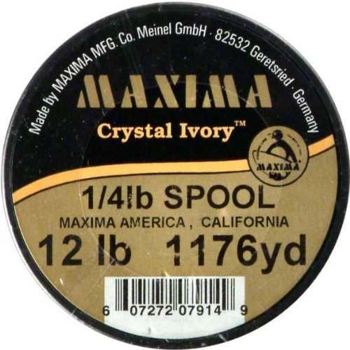 Maxima Crystal - Maxima Fishing Line Guide Spool, Crystal Ivory, 12-Pound/1176-Yard