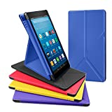 All-New Amazon Fire HD 8 Tablet Case, DTTO Slim-Fit Transformable Multi-Angle Stand Cover Case for Amazon Fire HD 8 (7th Generation, 2017 Released only) with Auto Sleep/Wake, Marine Blue