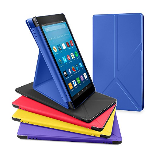 All New Amazon Fire Hd 8 Tablet Case  Dtto Slim Fit Transformable Multi Angle Stand Cover Case For Amazon Fire Hd 8  7Th Generation  2017 Released Only  With Auto Sleep Wake  Marine Blue