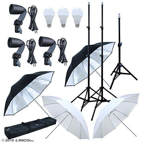 LINCO Lincostore Studio Lighting LED 2400 Lumens Umbrella Light Kit AM249 by Linco (Image #1)