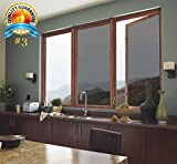 ZEALOTT 23.6-inch by 6.5-Feet (60cm×2m) Daytime Privacy Sun Control and Heat Rejection Window Glass Tinting Film for Residential and Commercial Uses, Sun Blocker, Solar Guard, Black & Silver