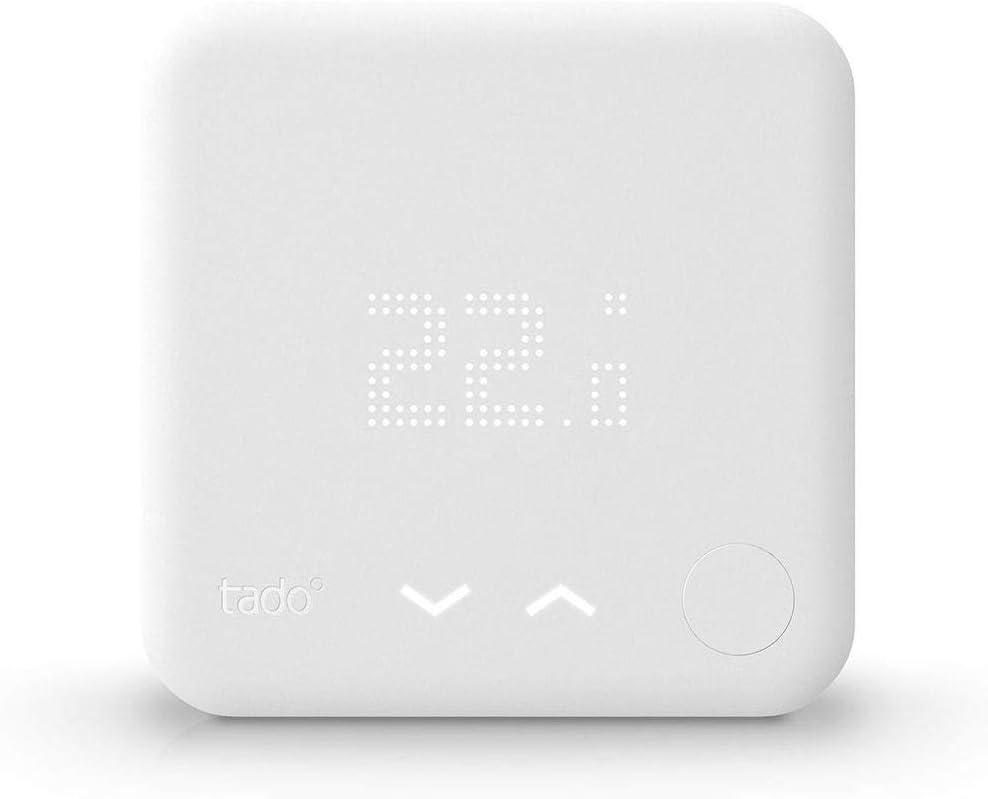 tado° Termostato Inteligente Kit de Inicio V3+ - Control inteligente de calefacción, trabaja con Amazon Alexa, Apple HomeKit, Asistente de Google, IFTTT