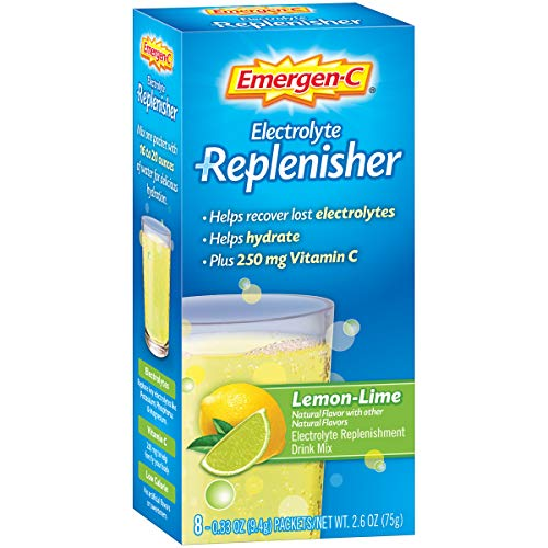 Emergen-C Replenisher (8 Count, Lemon-Lime Flavor) Electrolyte Replenishment Drink Mix with 250mg Vitamin C, 0.33 Ounce Packets ()