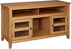 "Ravenna Home Classic Solid Wood Media Center, 47.87""W, Rustic Honey Pine"