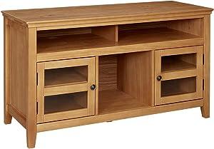 "Ravenna Home Classic Solid Wood Media Center, 47.87""W, Rustic Honey Pine"