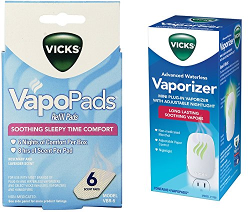 Vicks Advanced 22 Soothing Vapors Waterless Vaporizer With Vapo Pads by Vicks