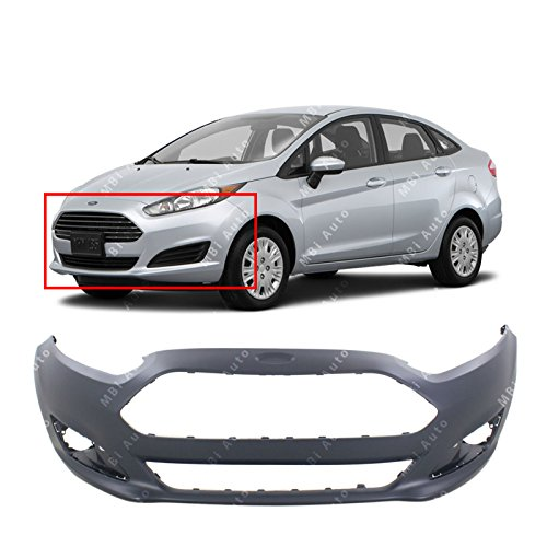 MBI AUTO Primered, Front Bumper Cover Fascia for 2014 2015 2016 Ford Fiesta Sedan & Hatchback 14-16, FO1000693