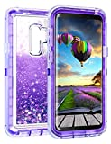 Coolden Case for Galaxy S9 Plus Cases Protective Glitter Case for Women Girls Cute Bling Sparkle Heavy Duty Hard Shell Shockproof TPU Case for 6.2 Inches Samsung Galaxy S9 Plus, Purple