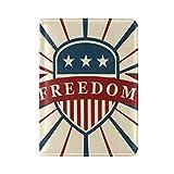 Vintage American Flag Freedom Leather Passport Cover - Holder - for Men & Women - Passport Case