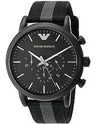 Emporio Armani Mens AR1948 Dress Black Nylon Watch