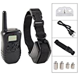 Cheap iMeshbean Dog Training Collar With Remote Rechargeable & Rainproof LCD Screen 330 Yard Beep/Vibration/Shock Electric Train Collars For Small,Medium,Large Pets&Dogs(For 1 Dog)