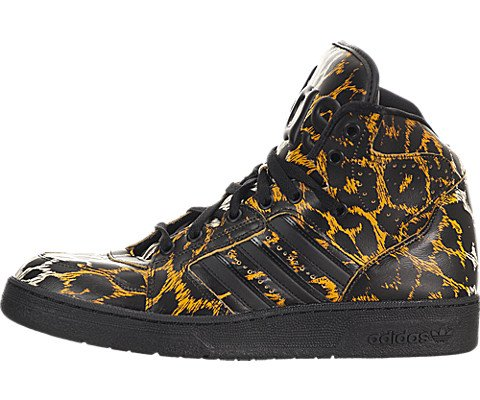 (adidas Originals Jeremy Scott Js Instinct High Leopard - Black/Leopard Print New (5))