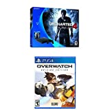 PlayStation 4 Slim 500GB Console - Uncharted 4 Bundle + Overwatch Origins