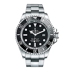 Best Epic Trends 51hLWsR4mxL._SS300_ Rolex Sea Dweller Black Dial Stainless Steel Mens Watch 116660