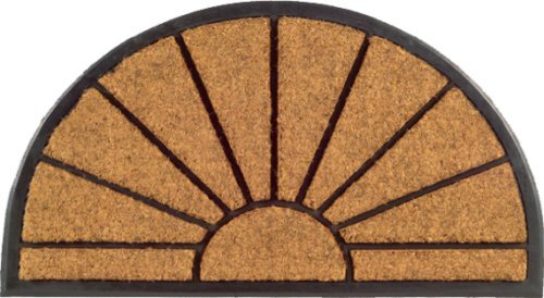 Imports Decor Half-round Rubber Back Coir Doormat, Sunburst, 18-Inch by -
