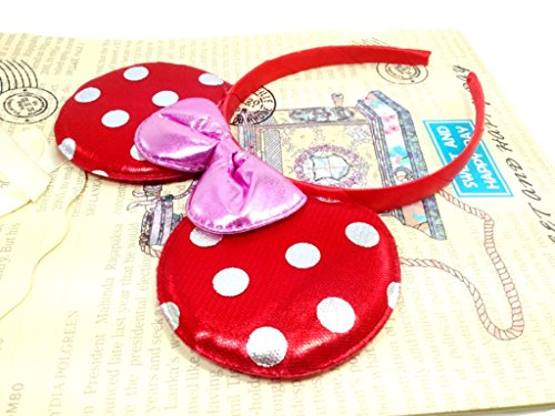 MeeTHan Minnie Mouse Ears Headbands: M4 - Teams Dallas Cycling