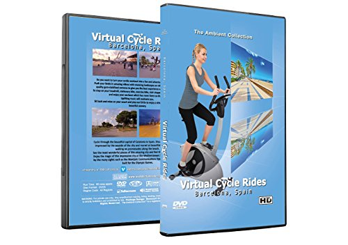 Virtual Cycle Rides DVD - Barcelona, Spain - for Indoor Cycling, Treadmill and Running Workouts (Best Elliptical Under 2000)
