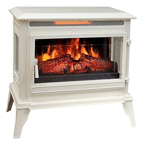 Electric Stove Cream - Comfort Smart Jackson Infrared Electric Fireplace Stove Heater, Cream- CS-25IR-CRM