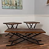 Bombay Furniture Company Best Deals - Bombay Reclaimed Foldable 3 Piece Coffee Table Set
