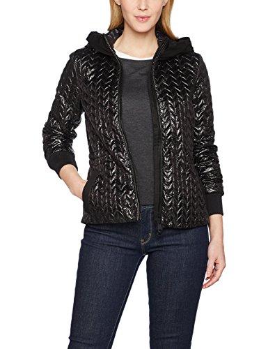 Geox Woman Jacket, Chaqueta para Mujer Negro (Black F9000)