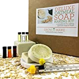 Grow and Make DIY Deluxe Oatmeal Soap Making Kit - Learn how to make natural soap at home!