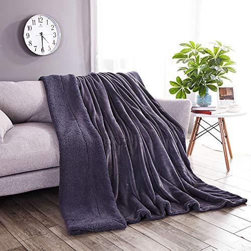 Omelas Cashmere Throw Blanket Grey Sherpa Fleece Throw Blanket Luxury Flannel Velvet Plush Reversible Throw Blanket 200x230CM (78x90in)