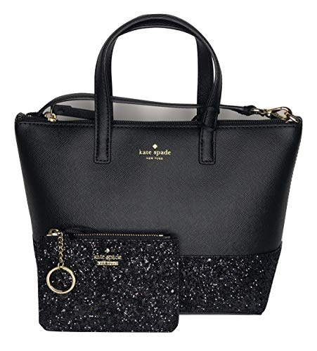 Kate Spade New York Greta Court Ina WKRU5610 bundled with matching Bitsy Card Wallet WLRU5177 (Black)