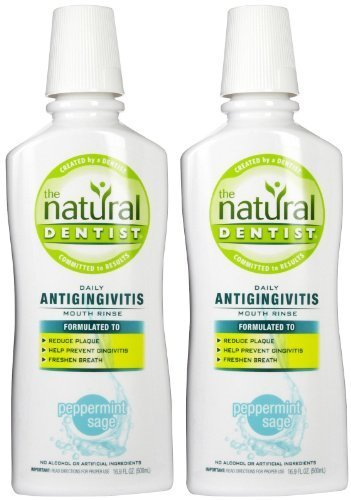 - The Natural Dentist Daily Antigingivitis Mouth Rinse, Peppermint Sage - 16.9 oz - 2 pk by The Natural Dentist