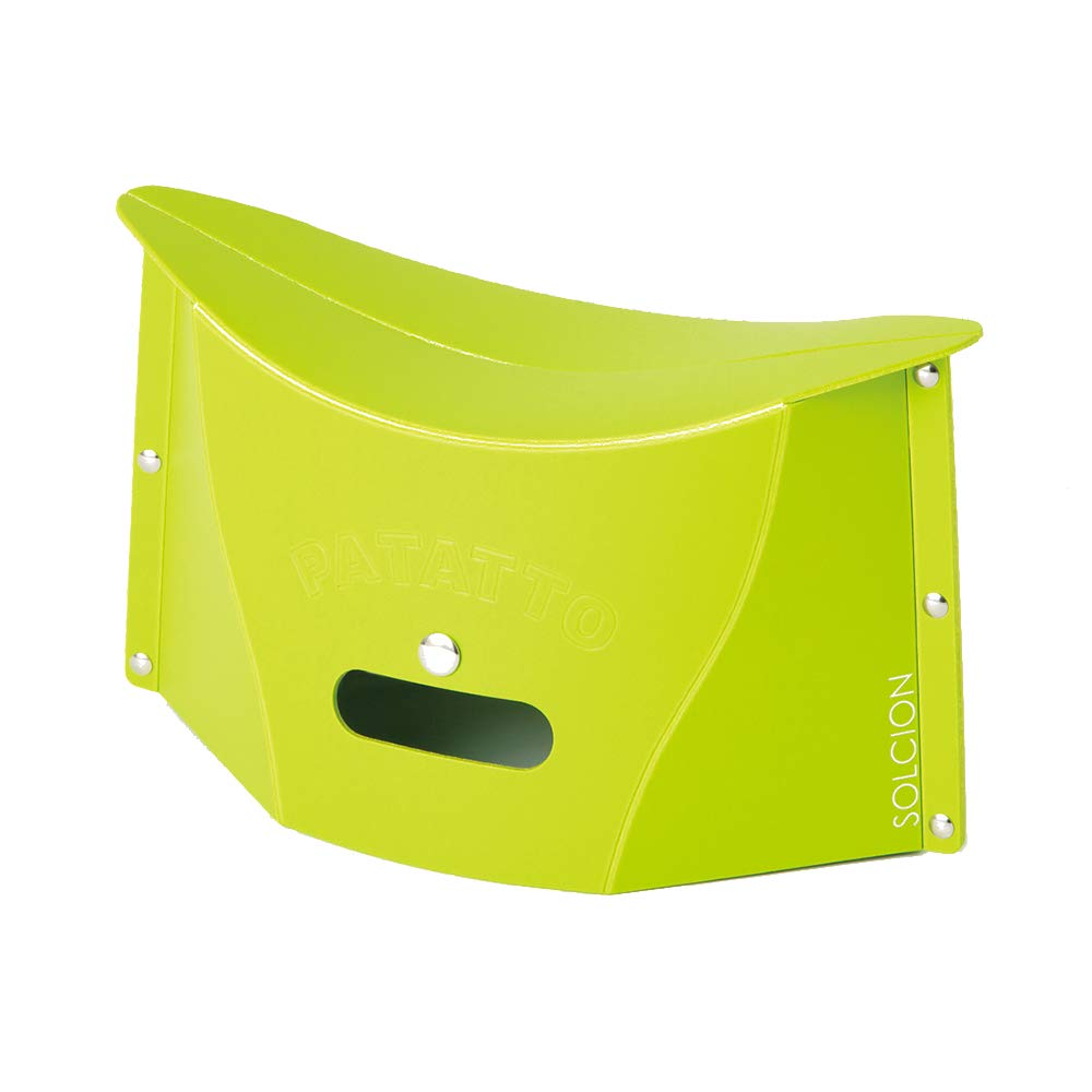 SOLCION Portable Folding Stool for Camping, Fishing, Hiking. 150 Model, Lightweight 0.23kg, Load Capacity 100Kg. Easy to Carry and Store. Suitable for Adults and Kids Indoors or Outdoors(Green Small) by SOLCION