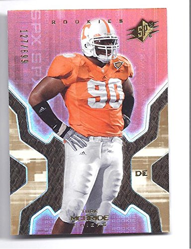 TURK MCBRIDE 2007 SPX #119 GOLD Parallel ROOKIE Card RC #127 of only 699 Made! Kansas City Chiefs Tennessee Volunteers Football