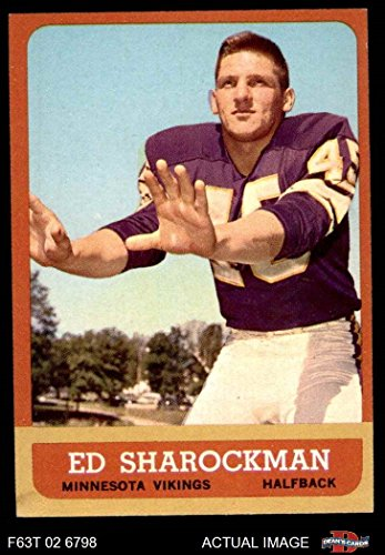 - 1963 Topps Football 105 Ed Sharockman Excellent (5 out of 10) by Mickeys Cards