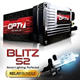 hid conversion kit hummer h3 - OPT7 Blitz 35w S2 H13 Hi-Lo HID Kit - Relay Bundle - All Bulb Sizes and Colors - 2 Yr Warranty [8000K Ice Blue Xenon Light]