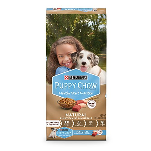 Purina Puppy Chow Natural with Real Chicken & Beef Plus Vitamins & Minerals Dry Puppy Food - 30 lb. Bag by Purina Puppy Chow