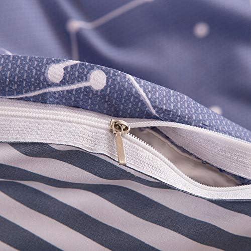happy-Boutique Parure De Lit Etoile Ciel Literie Simplified Modernity Coton Literie Housse De Couette + Drap + Taies d'oreiller Flat Bed Sheet,Twin 3Pc