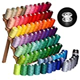 Cotton Threads-sewing thread- 85rolls (85000Y) cotton rainbow colored embroidery thread 40WT