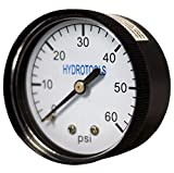 HydroTools Rear Mount Pressure Gauge Swimming Pool Filter Pump Accessory - 60 PSI