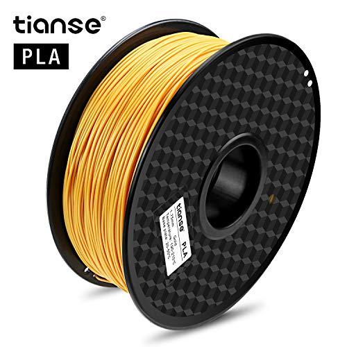 TIANSE Gold PLA 3D Printer Filament, 1 kg Spool, 1.75 mm, Dimensional Accuracy +/- 0.03 mm