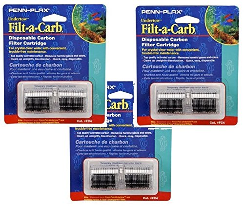 (Penn Plax Cartridges FC4-Fits Undertow and Perfect-a-Flow - 6 Total Cartrides - (3 Packs with 2 per pack))
