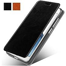 LG K20 V Case, LG K10 2017 Leather Case, LG K20 Plus Leather Case, MicroP(TM) Slim Folio / Flip Pu Leather With Stand TPU Back Case Cover For LG K10 2017 / LG LV5 / LG K20 Plus (Black Leather Case Z)