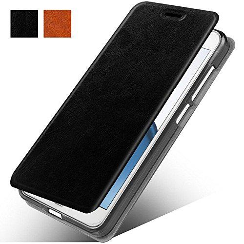 LG K30 Case, LG Phoenix Plus/LG Harmony 2/LG K10 2018/LG Premier Pro Case,MAIKEZI Slim Folio / Flip Pu Leather Phone Case For LG K10 Plus/LG K10 alpha 2018(Black Leather Case Z)