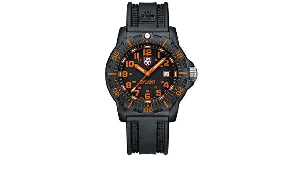6d9f6b66922 Amazon.com  Luminox Black Ops Carbon Series Orange Dial Black Polyurethane  Mens Watch 8819.GG  Luminox  Watches