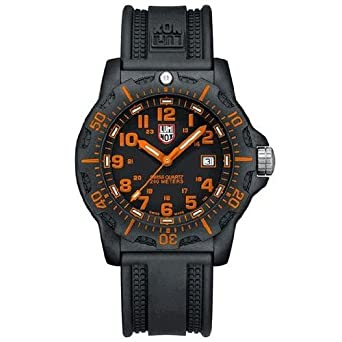 a49c33e394e Image Unavailable. Image not available for. Color  Luminox Black Ops Carbon  Series Orange Dial Black Polyurethane Mens Watch 8819.GG