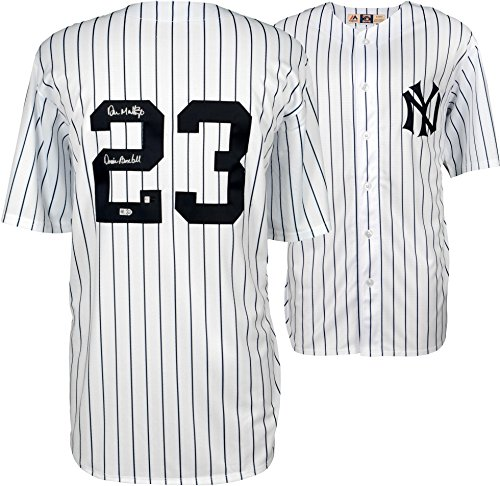 - Don Mattingly New York Yankees Autographed White Majestic Cooperstown Collection Replica Jersey with