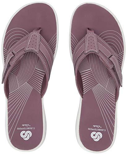 CLARKS Women's Brinkley Reef Flip-Flop Purple sythetic 050 M US