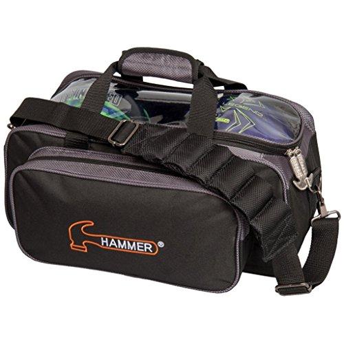 Hammer Premium Double Tote Bowling Bag, Black/Carbon (Hammer Ball Bowling Bag)